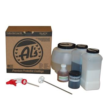 Al's Liner Spray in bedliner 1 gallon kit black
