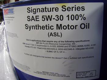 Amsoil synthetic 5W30 SS motor oil 208ltr