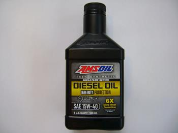 Amsoil synthetic 15W40 SS motor oil 1qt