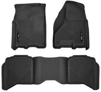 Huskyliner X-act Floor mat Kit 09-18 Ram Crew Cab